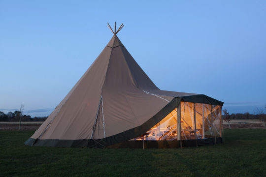 Extension Kit, Wallflex, Big Day Event Tipis, Tipi wedding prices, tipi wedding packages