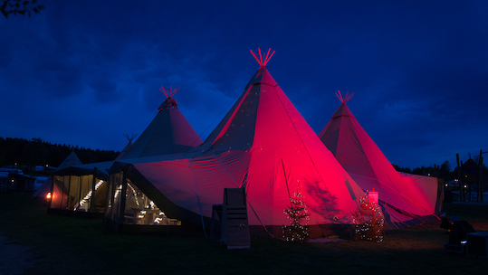 Big Day Event Tipis - Night time tipi