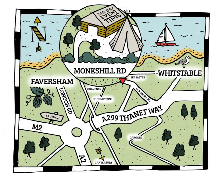 Big Day Event Tipis HQ - Monkshill Farm, Whitstable