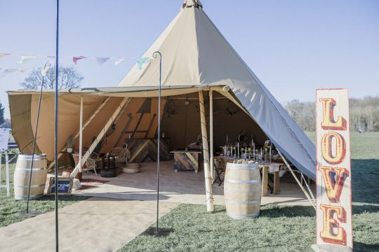 Big Day Event Tipis - Extras - Tipi Wedding Showcase