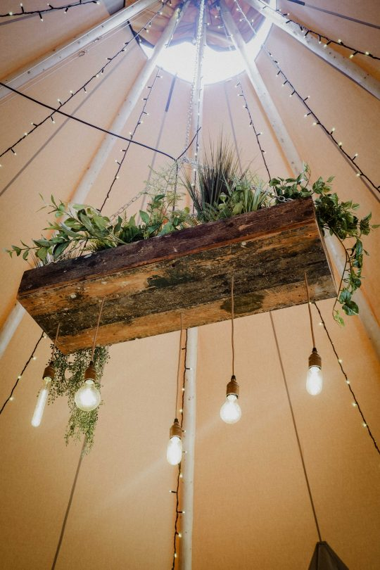 Rustic Planter Chandelier